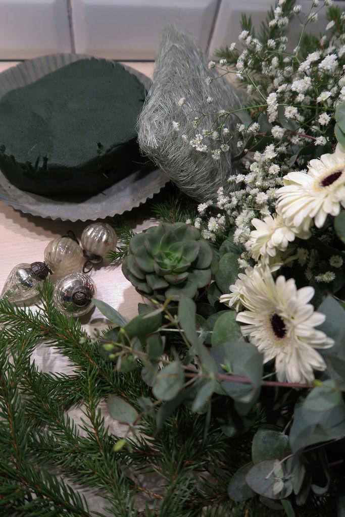 Vinterlig blomsteroppsats