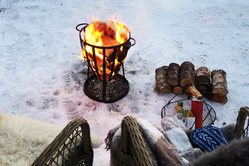 Ideer til vinterpiknikk i hagen.