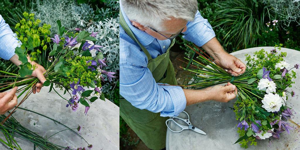 Lær å lage en lekker bukett. Blomster. Dekorasjoner.