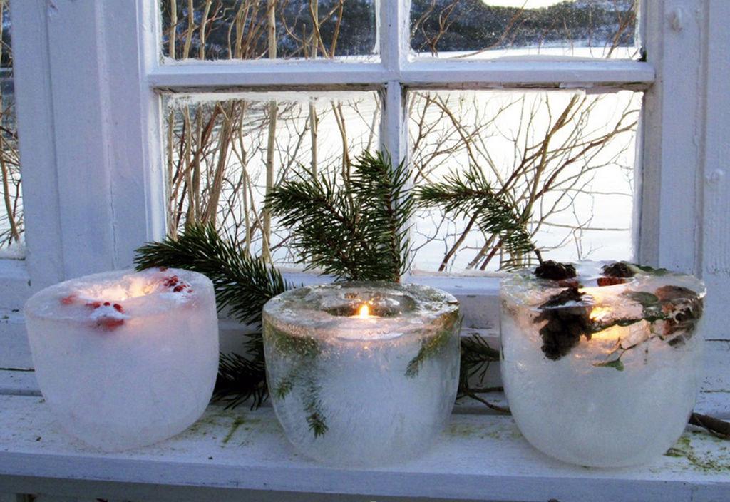 Lys opp i vintermørket med disse fine islyktene. Slik lager du fine islykter selv.