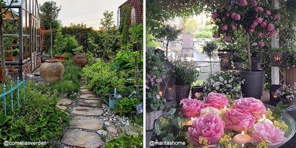 Frodig og grønt mot romantisk og rosa fra @corneliasverden og @maritashome.
