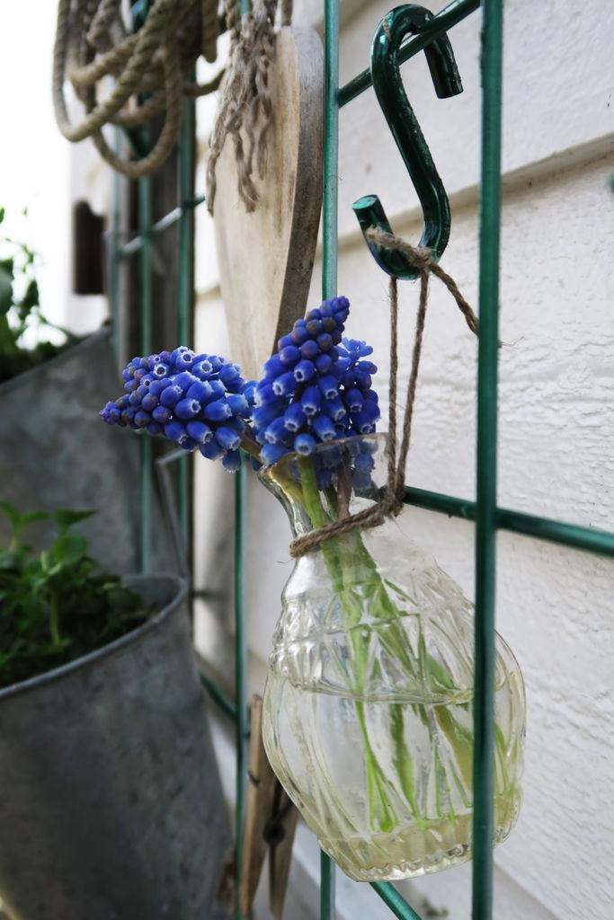 Tips til hvordan armeringsnett kan brukes til et oppheng i hagen.