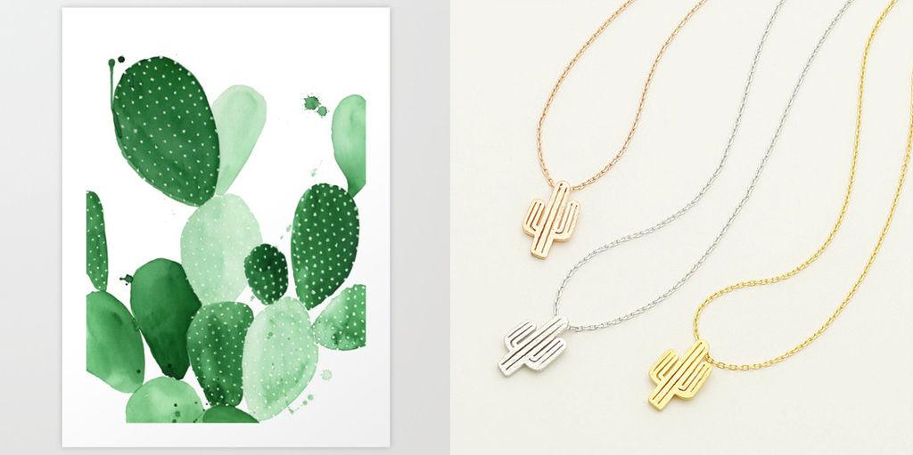Kaktuser av alle slag er trendy som aldri før, både de ekte plantene og som mønster trykket på klær og interiørartikler.