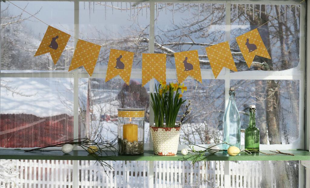 Tips til hva du kan gjøre for å få en helhetlig dekor i uterommet til påske.