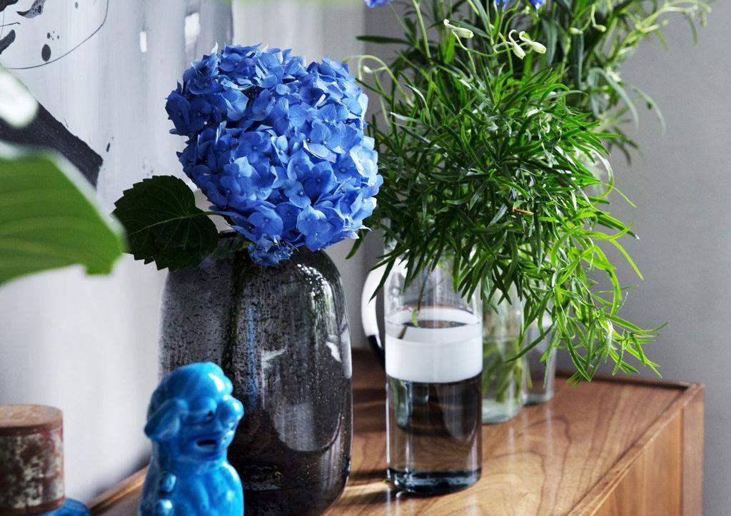 Styling: Tone Kroken Foto: Yvonne Wilhelmsen Blå blomster